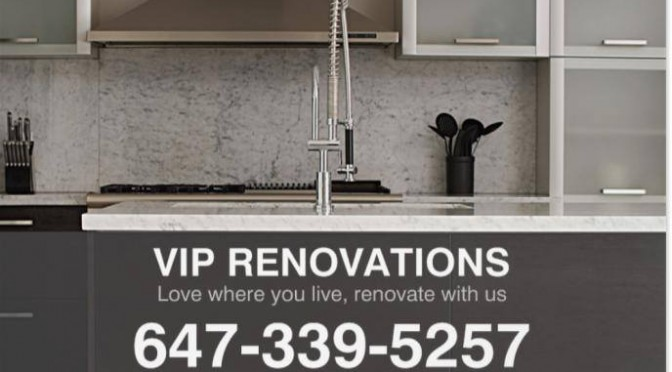 VIP Renovations for kitchens bathrooms and basements